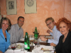 Dining with friends in Citta di Castello